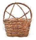 Blooming Autumn Twig Wall Basket