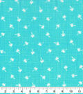 Novelty Cotton Fabric-Palm Trees on Aqua