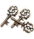 Steampunk 15 pk Key Buttons-Antique Gold