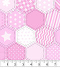 Snuggle Flannel Fabric -Pink Quilt Pattern