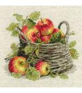 RIOLIS Combopu Cama 11.75\u0027\u0027x11.75\u0027\u0027 Counted Cross Stitch Kit-Ripe Apples