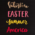 DCWV Home 4 Pack Letter Board Words-Spring & Summer