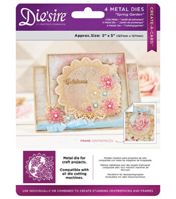 Crafter's Companion Die Create A Card 5x5-Spring Garden