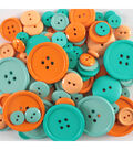 Favorite Findings  3.5 oz. Value Pack Buttons-Coral & Mint