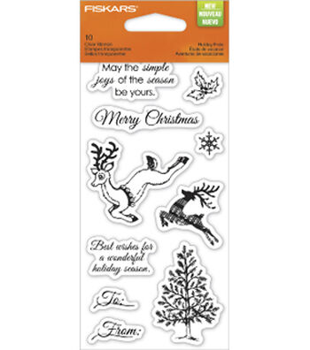 Fiskars Clear Stamps-Holiday Frolic 3x6