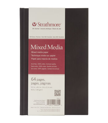 """Strathmore Mixed Media Art Journal 5.5""""X8.5""""-64 Pages"""