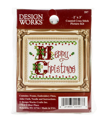 Design Works Merry Christmas Ornament Counted Cross Stitch Kit