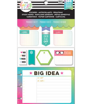 Me & My Big Ideas Coordinated Happy Planner Accessory Pack-Productivity