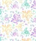 Snuggle Flannel Fabric -Pastel Vintage Floral