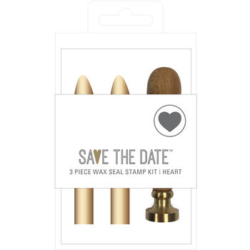 Save the Date Wax Seal Stamp Kit-Heart