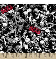 "The Walking Dead Poly Spandex Fabric 59""-Packed Zombies, , hi-res"