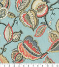 Waverly Upholstery Décor Fabric-Fantasy Fleur Seaglass