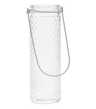 12in Handle Glass Vase