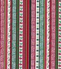 Keepsake Calico Holiday Cotton Fabric 43\u0022-Holly Stripes