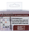 Contact Crafts Details 24 pk Planner Rubber Stamps-Budget