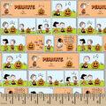 Peanuts Cotton Fabric-Halloween Comic