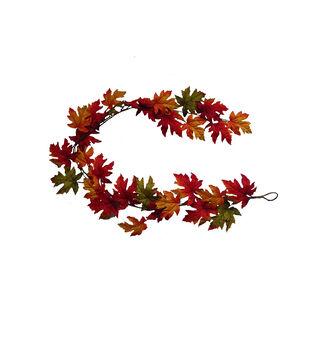 Blooming Autumn 66'' Maple Leaf Garland-Multi