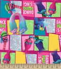 Trolls Dance, Hug & Sing Print Fabric