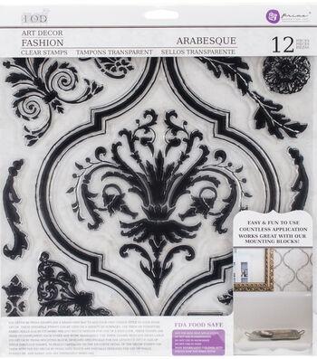 Iron Orchid Designs 12 pk Art Decor Fashion Clear Stamps-Arabesque