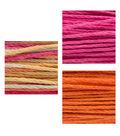 LaurDIY 3 pk 40 yds Hemp Cords-Pink, Multi & Orange