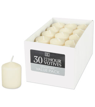 Darice Unscented 12 Hour Votive Candles
