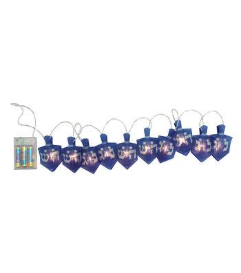 Maker's Holiday Hanukkah Dreidel String Lights