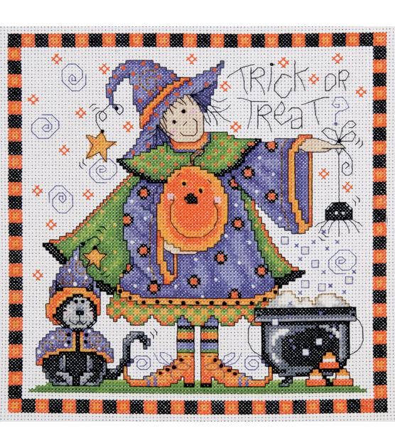 Design Works Counted Cross Stitch Kit Trick Or Treat, , hi-res, image 1
