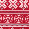 Anti-Pill Plush Fleece Fabric-Red Fairisle