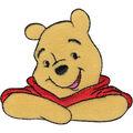 Disney Winnie The Pooh Iron On Applique-3\u0022X2-5/8\u0022 1/Pkg