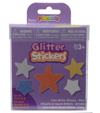Darice Foamies Glitter Sticker Bucket-Stars