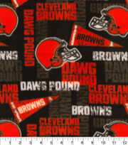 Cleveland Browns Fleece Fabric-Retro, , hi-res