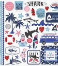 Shark Attack Stickers 12\u0022X12\u0022-Elements