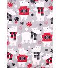 No Sew Fleece Throw 48\u0022-Polar Bears In Sweaters