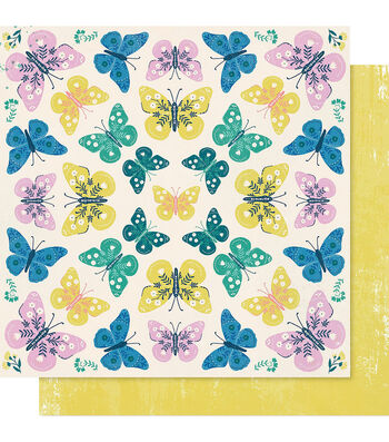"""Maggie Holmes Willow Lane Double-Sided Cardstock 12""""X12""""-Flutter"""