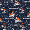 Denver Broncos Cotton Fabric-Mickey Mouses