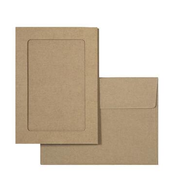 Park Lane 12 pk A7 Framed Cards & Envelopes-Kraft