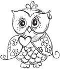 Mini Clear Stamp 3\u0022X5\u0022-Owl
