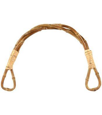 "Twisted Bamboo Bag Handle 5-1/2"" Half Rnd-1/Pkg"
