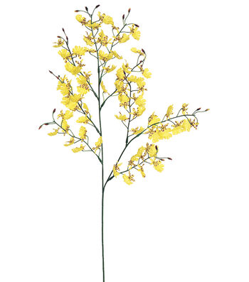 "Bloom Room 28"" Oncidium Orchid Spray-Yellow"