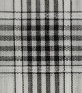 Cotton Shirting Fabric-White/Black Plaid