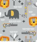Fleece No Sew Throw-Gray Safari