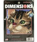 Dimensions Mini Needlepoint Kit Cross-Eyed Kitty