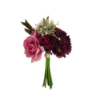 Blooming Autumn Peony, Dahlia & Rose Bouquet-Burgundy