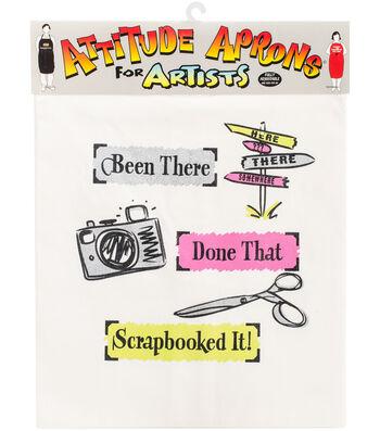 Attitude Artist Apron Natural-Scrapbooked It