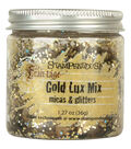 Stampendous Micas & Glitters Lux Mix 1.27oz-Gold