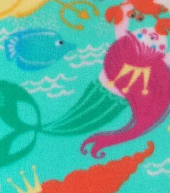 "Anti-Pill Fleece Fabric 59""-Mermaid World"
