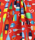 Solarium Outdoor Canvas Fabric 54\u0027\u0027-Shipwreck on Red