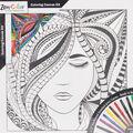 Adult Coloring Canvas 12\u0022X12\u0022 w/12 Markers-Lady