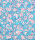 Keepsake Calico Cotton Fabric -Coral Fuchsia Packed Ditsy Floral