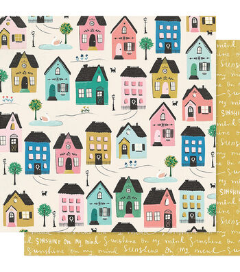 """Maggie Holmes Willow Lane Double-Sided Cardstock 12""""X12""""-Cottage"""